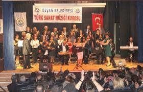 Keşan Belediyesi TSM Korosu konser verdi
