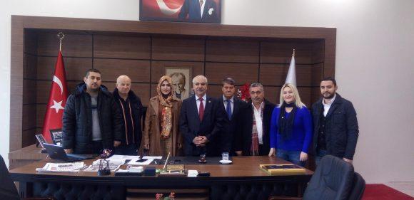 TYBB Edirne Şube Yönetimi ve Keşanlı üyelerden Özcan'a ziyaret