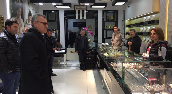 Helvacıoğlu, Kunduracılar Caddesi'ni ziyaret etti
